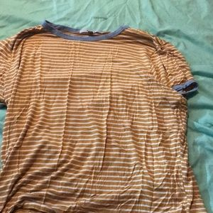 A striped t shirt that's loose